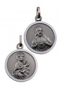 Skapulier-Medaille (Silber 925) 10 mm