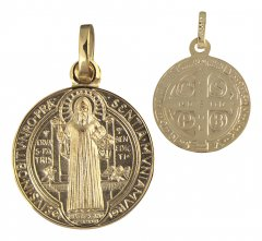 Benediktus Medaille (Gold 333) 16 mm