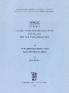 Die Kardinaltugenden bei Cicero und Ambrosius. De officiis Bd.IV