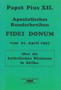 Apostolisches Rundschreiben Fidei donum [HB 111]