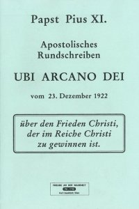 Apostolisches Rundschreiben Ubi arcano dei [HB 116]