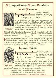 Tafeln für die Liturgie Zum Asperges und Vidi Aquam