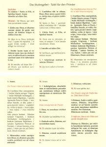 Tafeln für die Liturgie Stufengebet Tafel für den Priester