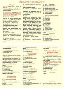 Tafeln für die Liturgie Tafel für Ministranten Antworten