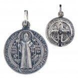 Benediktus Medaille (Silber 925) 18 mm