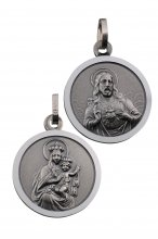 Skapulier-Medaille (Silber 925) 12 mm