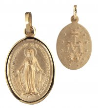 Wundertätige Medaille (Gold 333) 12 mm