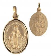 Wundertätige Medaille Messing vergoldet (Double) 16 mm