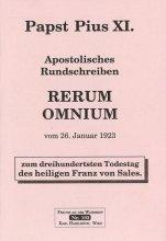 Apostolisches Rundschreiben Rerum omnium [HB 103]