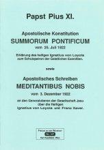 Apostolische Konstituion Summorum Pontificum und Apostolisches Schreiben Meditantibus nobis [HB 107]