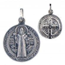 Benediktus Medaille (Silber 925) 10 mm