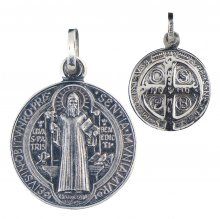 Benediktus Medaille (Silber 925) 16 mm